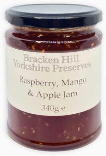 Raspberry Mango and Apple Jam