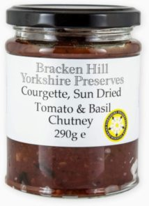 Courgette Sun Dried Tomato & Basil Chutney