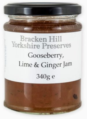 Gooseberry Lime & Ginger Jam 340g