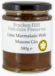 Lime Marmalade with Masons Gin