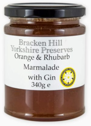 Orange and Rhubarb Marmalade with Gin  340g