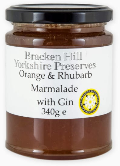 Orange and Rhubarb Marmalade with Gin