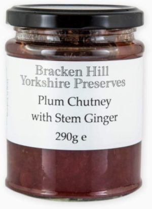 Plum Chutney with Stem Ginger