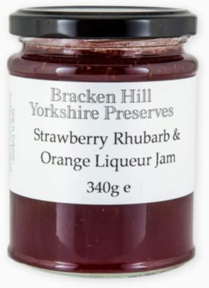 Strawberry & Rhubarb Jam with Orange Liqueur 340g