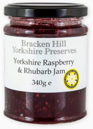 Yorkshire Raspberry & Rhubarb Jam 340g